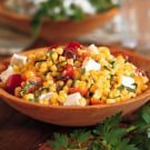 Try the Pan-Roasted Corn Salad with Tomatoes and Feta Recipe on williams-sonoma.com/