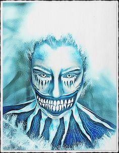 Frozen 2017. MUA: Rebecca Morgan #makeupartist #makeup #winter #frozen #facepainting #bodypainting #halloween #cold #skeleton #smile #clown