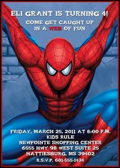 Spiderman Printable Birthday Party Invitation by darlingmemories, $12.00
