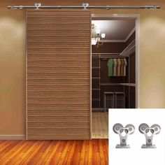 209.99$  Watch here - http://aliu51.worldwells.pw/go.php?t=32760229539 - 5-8FT Single Rustic Barn Door Hardware Stainless Steel Sliding Double Roller Set 209.99$