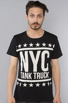 The NYC Tank Truck Tee in Black by Joyrich