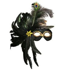 Amazon.com: Black Sequin Masquerade Feather Mask: Clothing