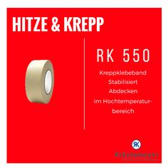 RK 550 - Hitzebeständiges Kreppklebeband #Krueckemeyer #Klebeband #Kleben #Adhesive #Tape #Krepp