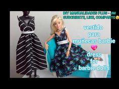 Manualidad : Vestidos para muñecas barbie DIY dress for barbie dolls - YouTube