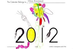 FREE printable calendar children can personalize!