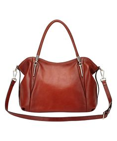 Look at this Red Amedea Leather Satchel on #zulily today!