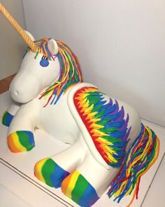 Sculpted Unicorn cake.