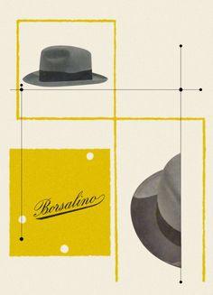 Max Huber for Borsalino. www.italianways.com/hats-off-to-design-max-huber-for-borsalino/