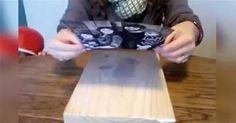 DIY transfert photo sur bois