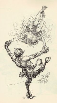 Heinrich Kley and he was an illustrator/painter for the German magazines Judges and Simplizissimus during the late 1800s and early 1900s.