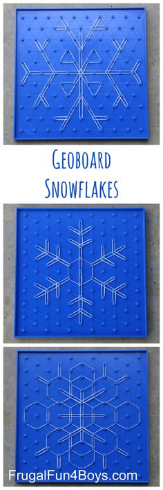 Geoboard Snowflakes STEM Activity for Kids Geoboard Snowflakes – Winter STEM Activity for Kids. These are so beautiful, and work well for a wide range of ages. The post has links to the boards and bands we used. Winter Stem Activities For Kids, Steam Activities, Science Activities, Symmetry Activities, Preschool Winter, Math Classroom, Kindergarten Math, Teaching Math, Teaching Resources