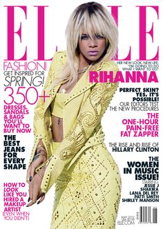 Rihanna Covers ELLE Magazine