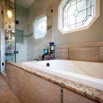 One of our recent and favorite bathroom remodels using a Kohler Tub. #Kohler #bathroom