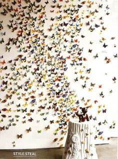 butterfly wall - let your ideas fly free