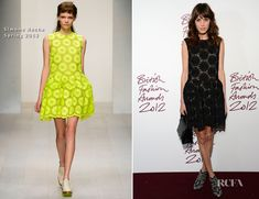 Alexa Chung in Simone Rocha - 2012 British Fashion Awards