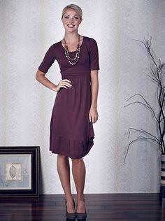 Simple, Feminine, & Versatile Dress in Plum Purple