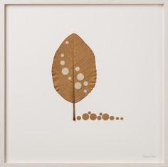 "Susanna Bauer, ""Ten Circles"", Crochet and Dry Leaf."