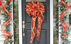 Loose the Wreaths of Christmas Past! Go for a DIY Big Bow on front door