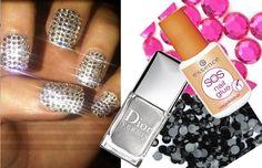 Amaizing nail Art Designs with Rhinestones