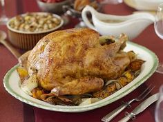 Love this brined, herb roasted turkey recipe