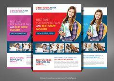 Kids School Flyer Templates @creativework247