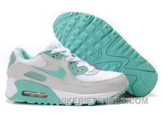 buy online a890c 5e413 Nike Air Max 90 Womens Grassgreen Grey White Authentic 2a7hi, Price   74.00  - Nike Rift Shoes