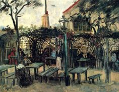 "Terrace of a Cafe on Montmartre ""La Guinguette"", 1886 Vincent van Gogh"