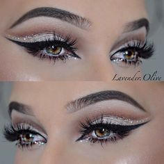 Glamour with glitter! @lavender.olive @lavender.olive @lavender.olive ✨✨… #cutcreaseeyeshadows