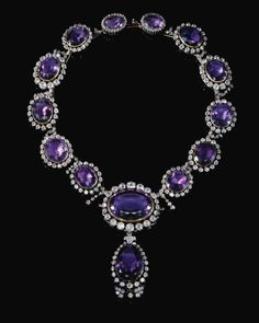 Amethyst Jewelry, Amethyst Necklace, Pearl Jewelry, Pearl Necklace, Jewelry Necklaces, Royal Jewelry, Fine Jewelry, Thurn Und Taxis, Antique Jewelry