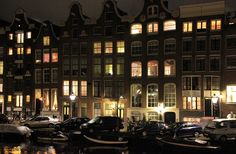 will-on-board.com #Nighttime in #Amsterdam #canal #weekend