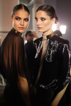 Backstage at Alexandre Vauthier Spring Couture 2013  [Photo by Kuba Dabrowski]
