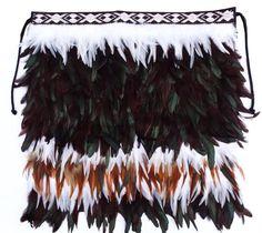 This beautiful handmade Maori Feather Korowai Cloak , or kahu huruhuru, is made for a baby child. Maori Patterns, Feather Cape, Maori Designs, 1st Birthday Gifts, Maori Art, Kiwiana, Textiles, Weaving Art, Weaving Techniques