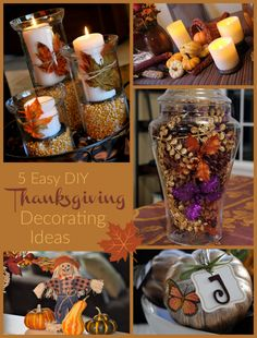 Looking for easy DIY Thanksgiving decorating ideas for your home and table? Here are FIVE beautiful and EASY Thanksgiving decor ideas you can implement today!