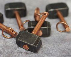Mjolnir - Thors hammer, hammer keychain, keyring hammer