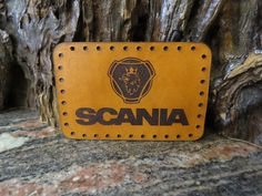 SCANIA Patch sew on cap or jacket badge Trucker Genuine leather 471 Thick Leather, Natural Leather, Leather Keyring, Motorcycle Leather, Sewing Leather, Sew On Patches, Cowhide Leather, Badge, Cap