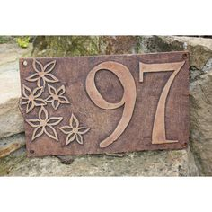 This type of slab pottery is surely an inspirational and very good idea Outdoor Ceramic House Numbers or Letters SET OF by BackBayPottery Top Diy, Happy Art, House Numbers, Animals And Pets, Creations, Ceramics Ideas, Pottery, Pots, Crafts