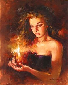 Andrew Atroshenko art | Andrew Atroshenko - Andrew Atroshenko Shimmering Light Painting | Deep Thought