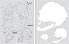 Template / crânio / skeleton / equipamentos de pintura e vendas de tintas especialista Honpo