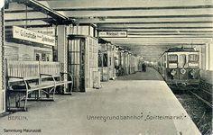 U-Bahn Berlin Spittelmarkt 1908 – Wikipedia Underground Shelter, Rapid Transit, S Bahn, Nation State, The Old Days, Capital City, Train Station, Public Transport, Historical Photos