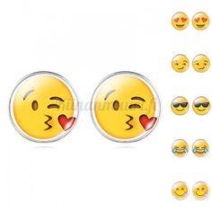 Emoji korvakorut Emoji, Enamel, Accessories, Vitreous Enamel, The Emoji, Enamels, Tooth Enamel, Emoticon, Glaze