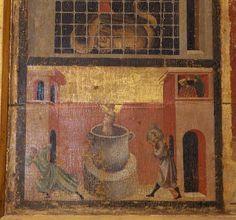 Maestro della Santa Cecilia - Santa Margherita e storie della sua vita, dettaglio - XIV sec. - Santa Margherita a Montici, Firenze