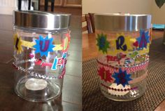 The easy, no mess dog treat jars are a great kid's craft and a fun way to involve your kids in the dog's care!