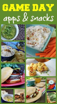 Game Day Appetizer & Snack Recipes from http://FrugalLivingNW.com -- 12 recipes made with real food ingredients that will surely please your guests this weekend!