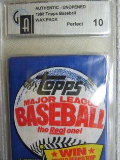 1983 TOPPS BASEBALL WAX PACK  GRADED GSI 10 BEAUTIFUL ROOKIES BOGGS RIPKEN??