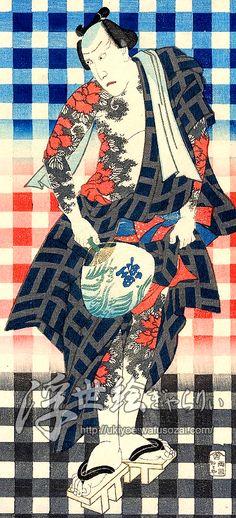 江戸のデザイン(1) - 御あつらへ三色弁慶 - 浮世絵ぎゃらりぃ