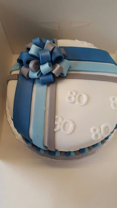Men's 80th birthday cake