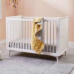 Mid-Century Convertible Crib - White #westelm