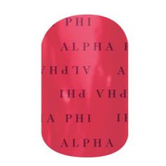 Alpha Phi Sorority nail wraps! Click the picture to get them now! No dry time, non-toxic, vegan, allergy friendly and lasts about 2 weeks on your mani!