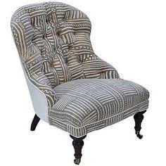 Image of Mudcloth Boudoir Chair