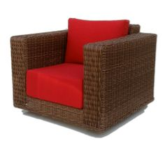 ElanaMar Designs Santa Barbara Lounge Patio Chair with Cushions Fabric: Sunbrella Logo Red Wood Patio Chairs, Outdoor Wicker Furniture, Beach Chairs, Wicker Swivel Chair, Chair Cushions Walmart, Used Office Chairs, Small Grey Bedroom, Lounge, Chair Fabric
